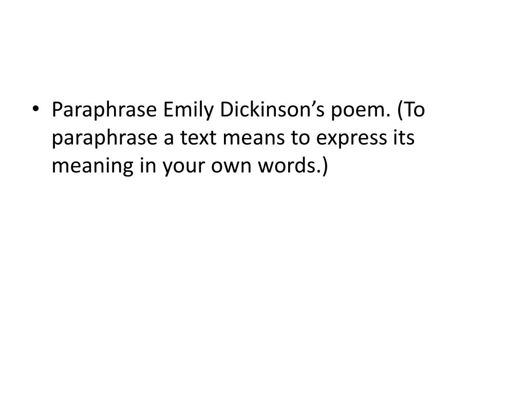 Ppt Succes By Emily Dickinson Powerpoint Presentation Free Download Id 1985390 I Counted Sweetest Poem Meaning