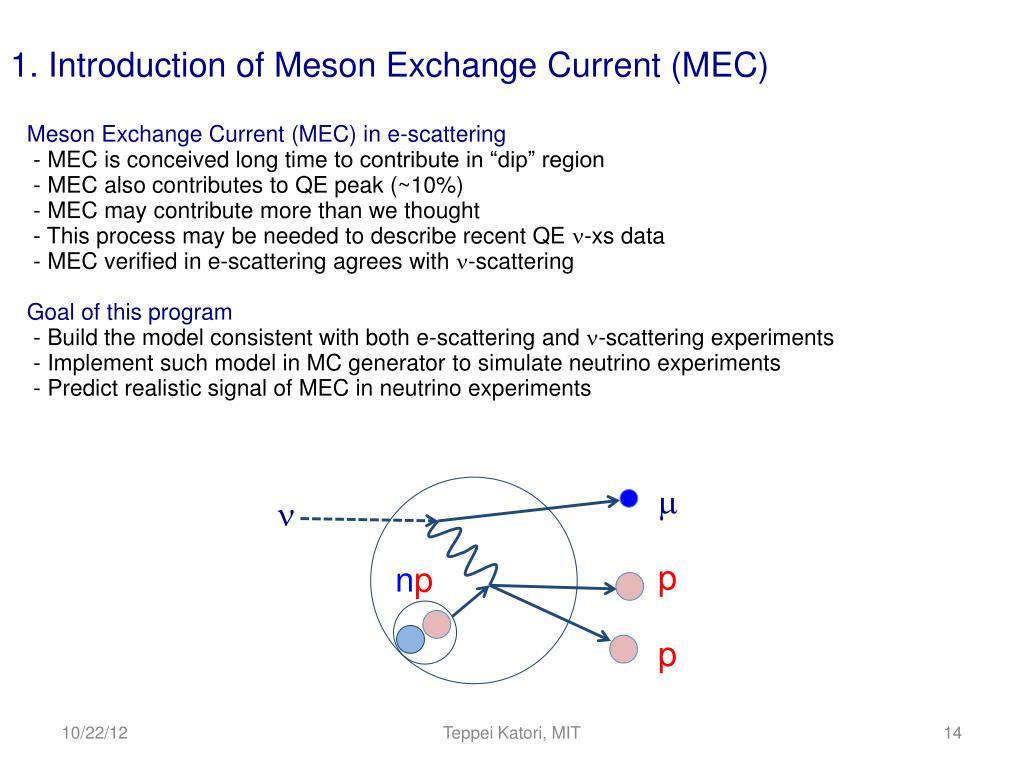 PPT - Meson Exchange Current (MEC) model in Neutrino Interaction