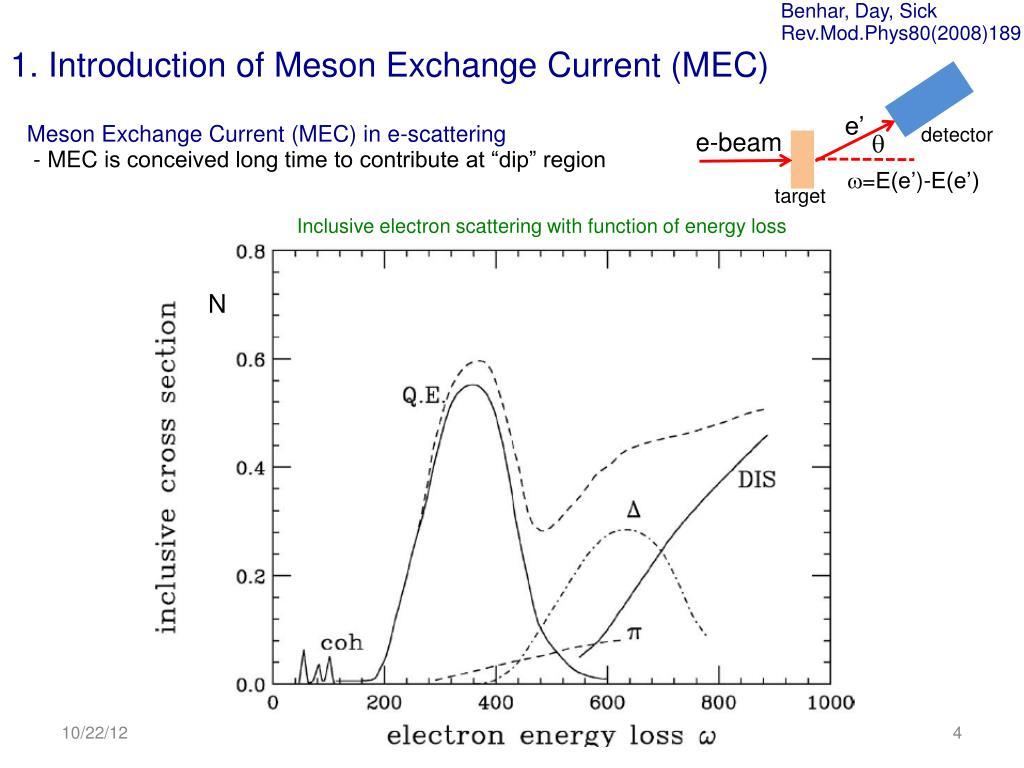 PPT - Meson Exchange Current (MEC) model in Neutrino