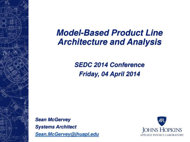 Model based product line architecture and analysis