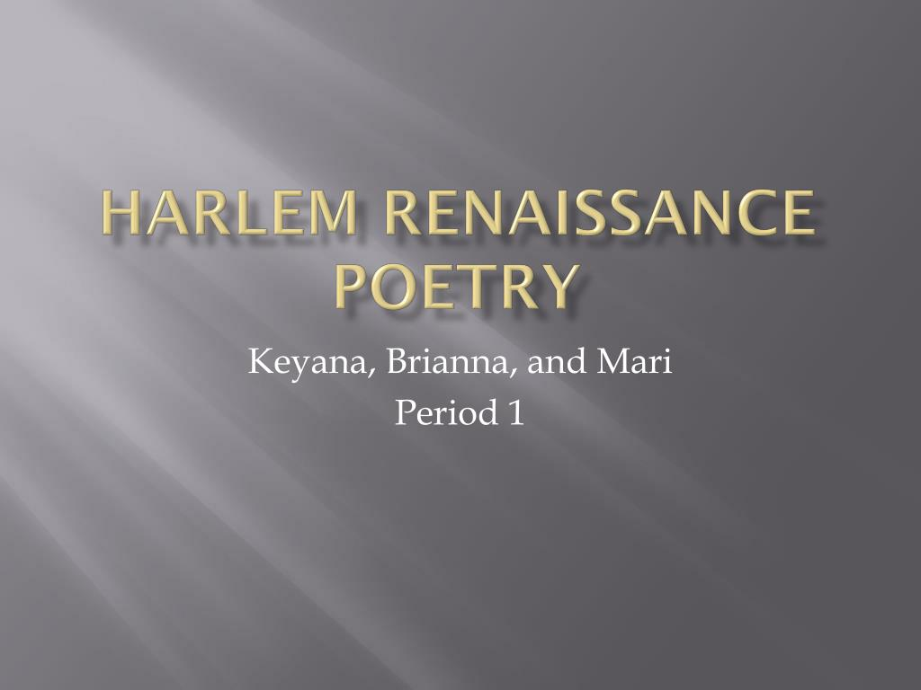 Ppt Harlem Renaissance Poetry Powerpoint Presentation Id1985627