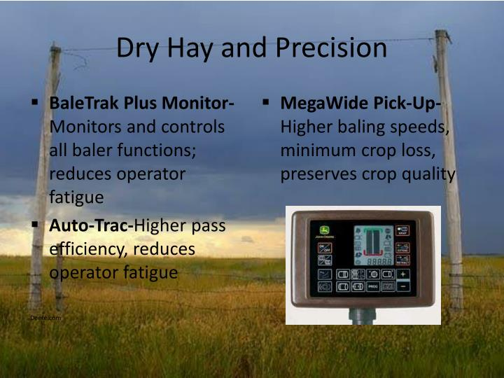 Dry Hay and Precision