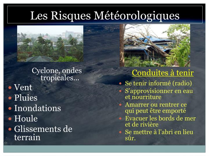Cyclone, ondes tropicales...