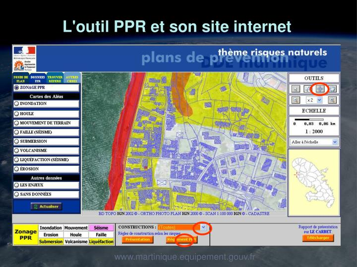 L'outil PPR et son site internet