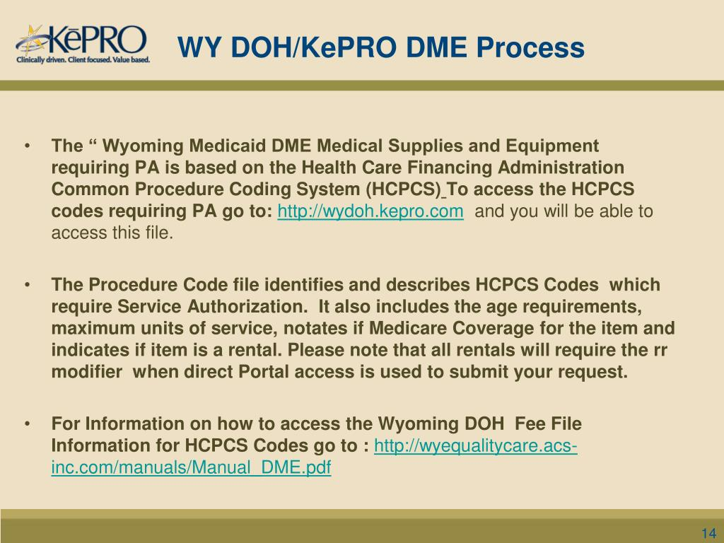 PPT - KePRO's Service Authorization Process for Durable