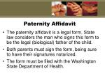 paternity affidavit