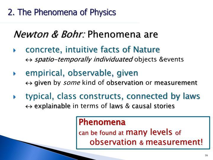 2. The Phenomena of Physics
