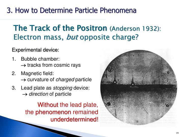 3. How to Determine Particle Phenomena