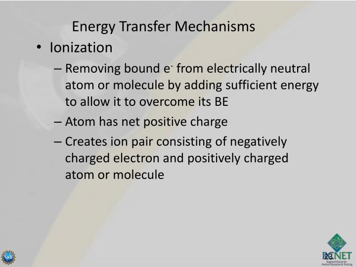 Energy Transfer Mechanisms