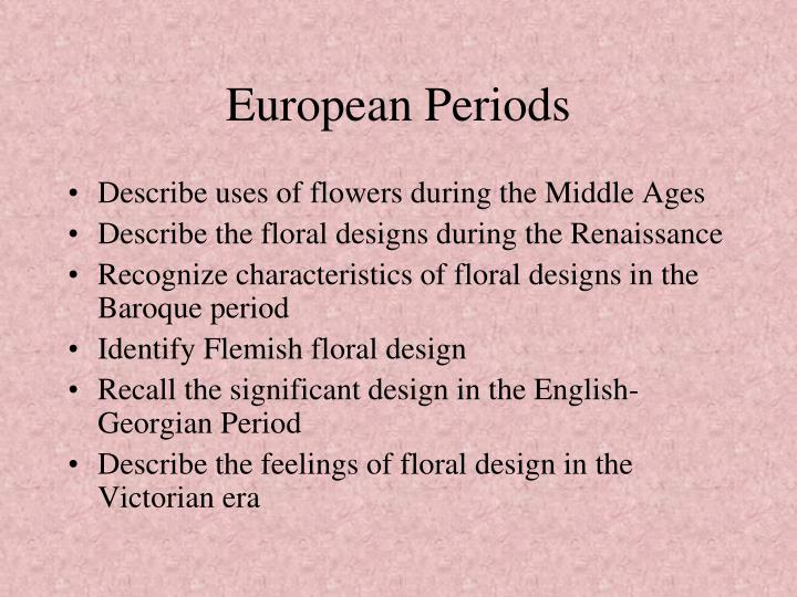 Ppt History Of Floral Design Powerpoint Presentation Id1985933