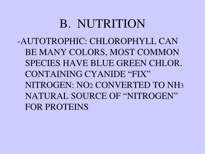 B.  NUTRITION
