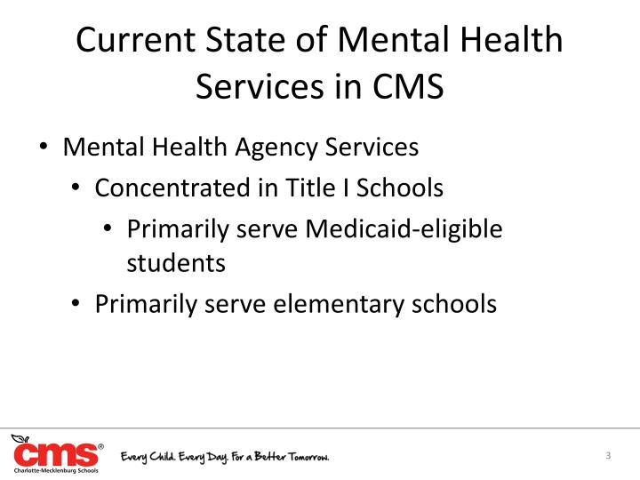 Current State of Mental Health Services in CMS