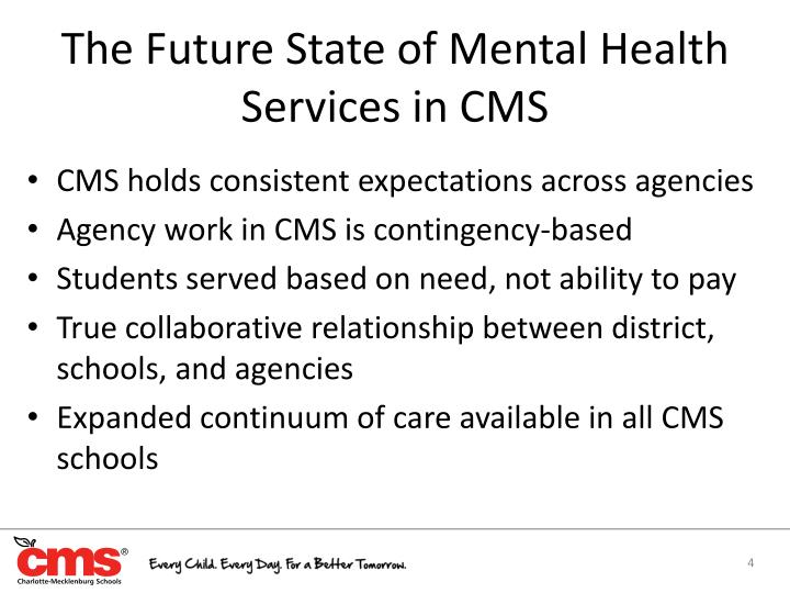The Future State of Mental Health Services in CMS