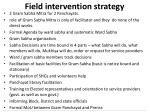 field intervention strategy