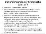 our understanding of gram sabha part 1 or 2