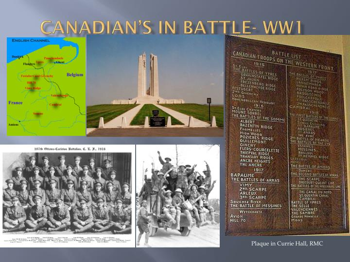 sale retailer 4aade ace5a PPT - Canadian's in Battle- WW1 PowerPoint Presentation - ID ...