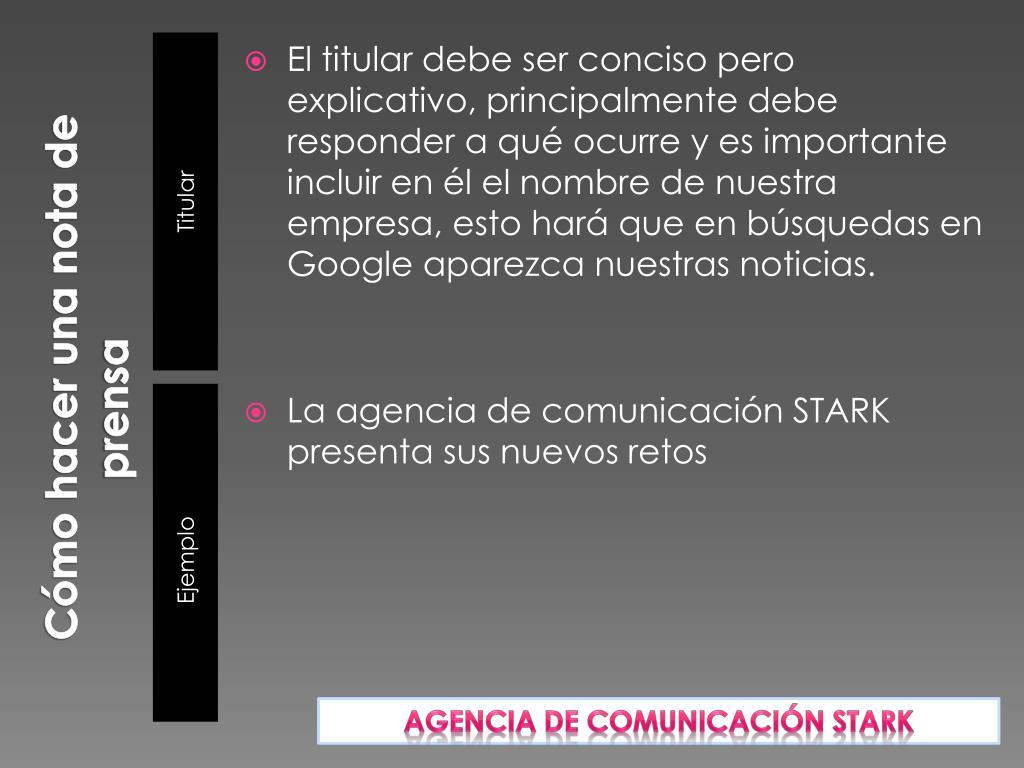 Ppt Cómo Hacer Una Nota De Prensa Powerpoint Presentation Free Download Id 1986416