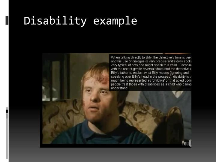 Disability example