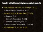 israel s initial foray into canaan joshua 6 8