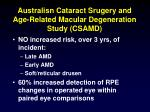 australisn cataract srugery and age related macular degeneration study csamd