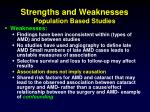 strengths and weaknesses population based studies1