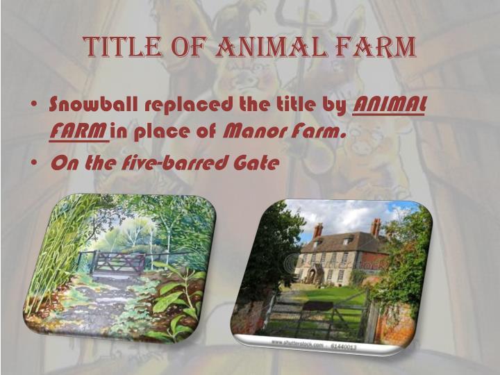Title of animal farm