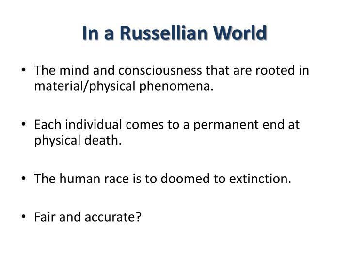 In a russellian world