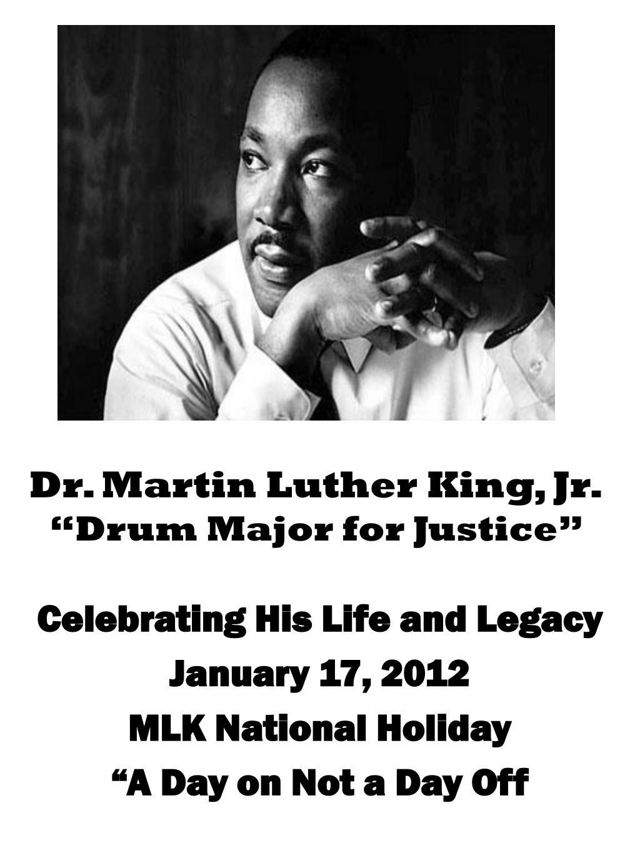 Ppt Dr Martin Luther King Jr Drum Major For Justice