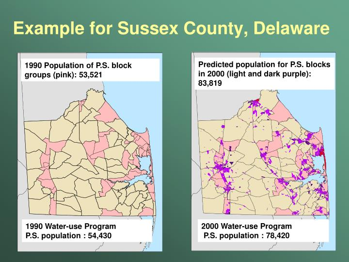 Example for Sussex County, Delaware