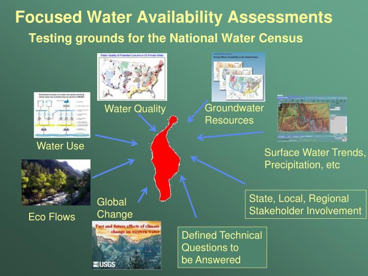 Focused Water Availability Assessments
