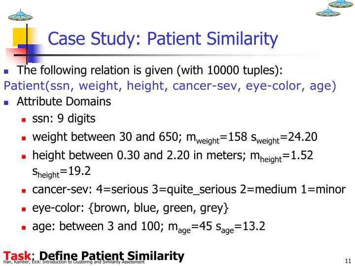 Case Study: Patient Similarity