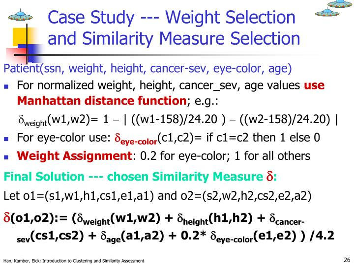 Case Study --- Weight Selection