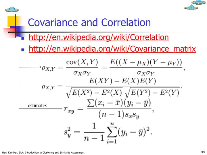 Covariance and Correlation