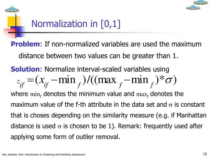 Normalization in [0,1]