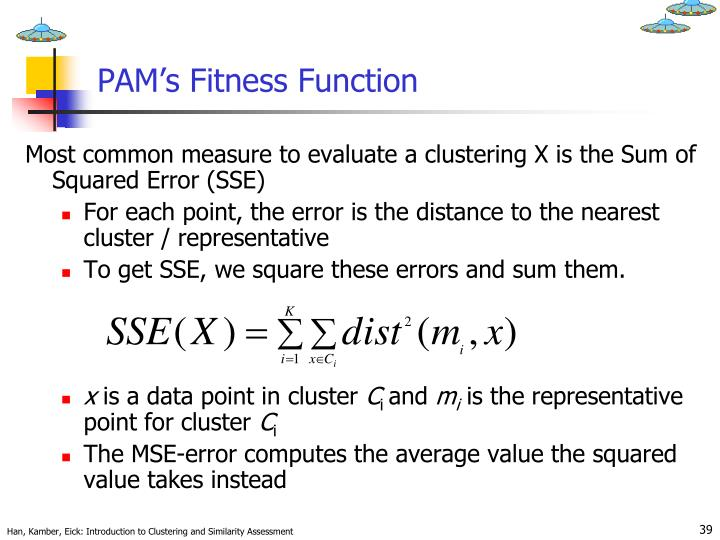 PAM's Fitness Function