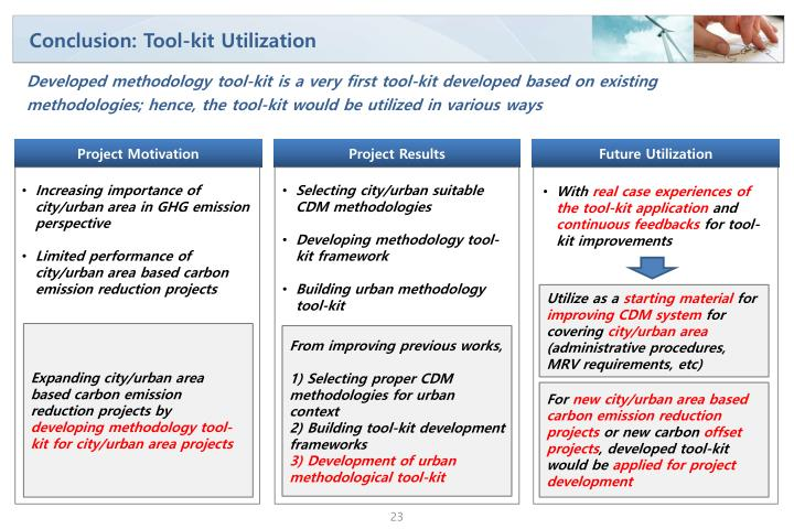 Conclusion: Tool-kit Utilization