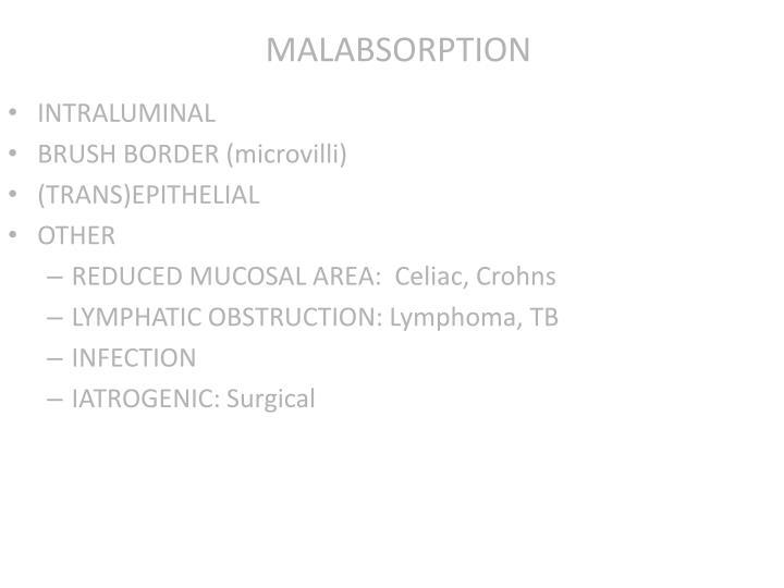MALABSORPTION