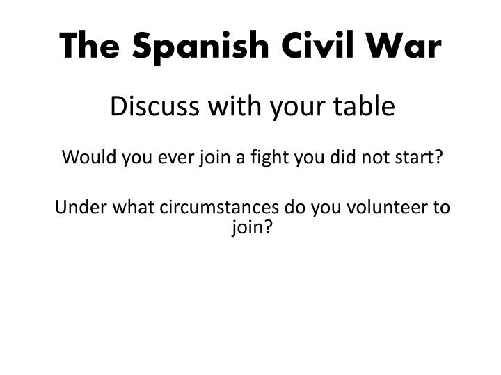 Discuss with your table