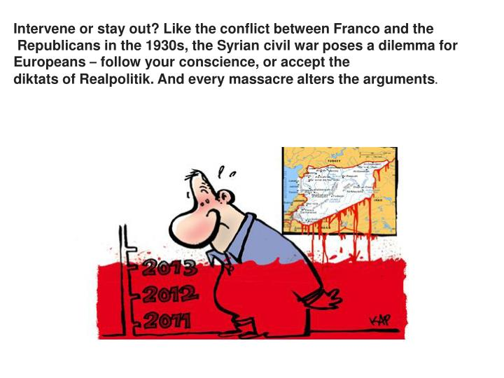 Intervene or stay out? Like the conflict between Franco and the
