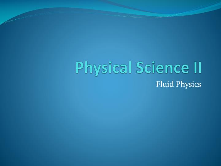 physical science ii
