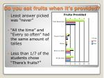 do you eat fruits when it s provided1