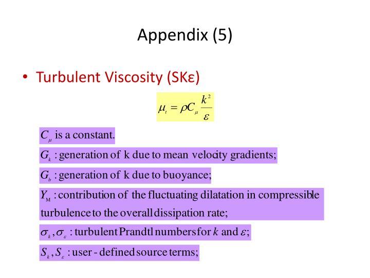 Appendix (5)