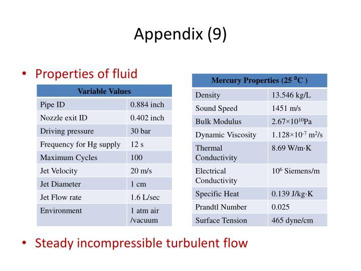 Appendix (9)