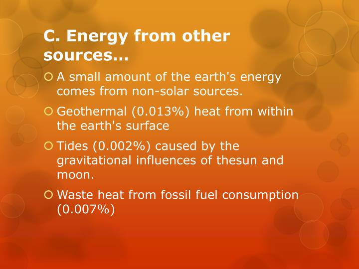 C. Energy from other sources…