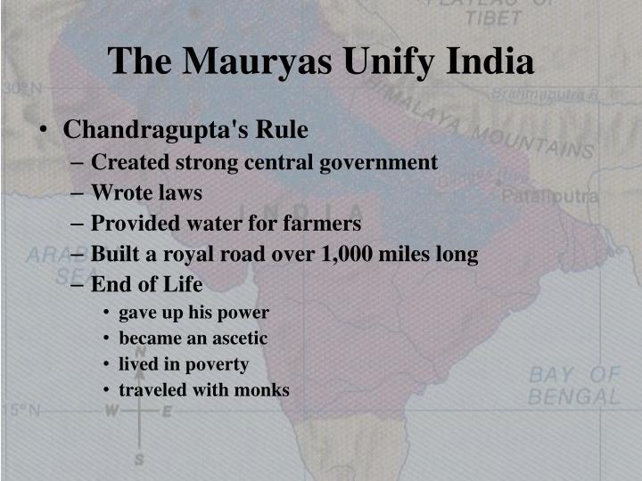 The Mauryas Unify India