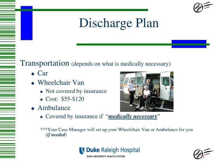 Discharge Plan