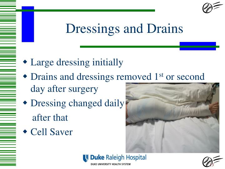 Dressings and Drains