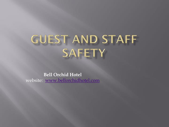 guest and staff safety n.