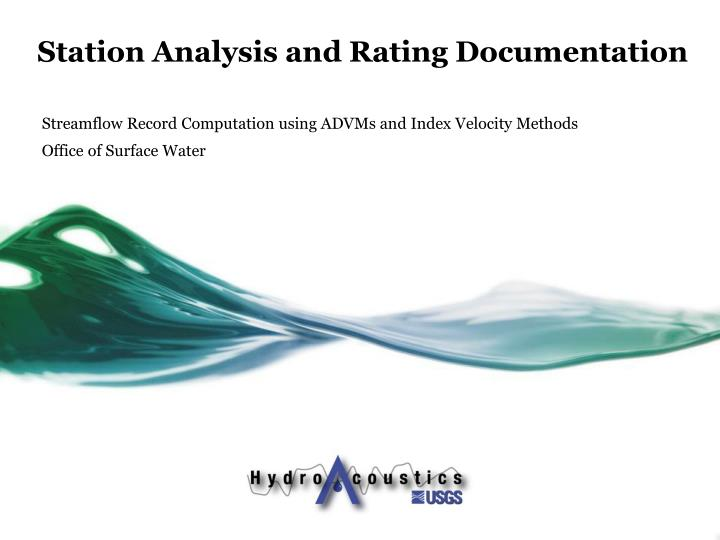 station analysis and rating documentation n.