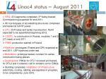 linac4 status august 2011